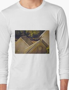 Roofline, Cozy Harbor, Maine Long Sleeve T-Shirt