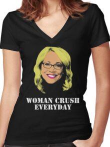 Doris Burke Woman Crush Everyday Drake  Women's Fitted V-Neck T-Shirt