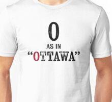 Ottawa CanadaT-shirt - Alphabet Letter Unisex T-Shirt