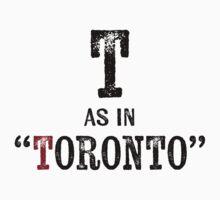 Toronto CanadaT-shirt - Alphabet Letter Kids Tee