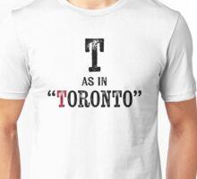 Toronto CanadaT-shirt - Alphabet Letter Unisex T-Shirt