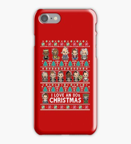 lil 80s Movie Christmas Jumper iPhone Case/Skin