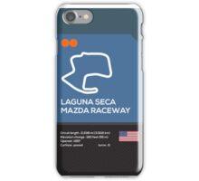 Laguna seca racetrack iPhone Case/Skin