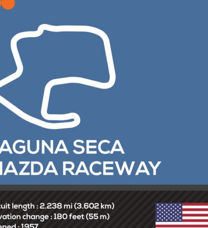 Laguna seca racetrack Sticker