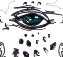 blue eye flight Sticker
