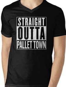 Straight Outta Pallet Town (Pokemon) Mens V-Neck T-Shirt