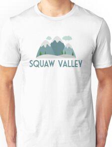 Squaw Valley Ski T-shirt - Skiing Mountain Unisex T-Shirt