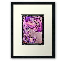 mewtwo in a frame Framed Print
