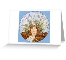 Winter Goddess Greeting Card