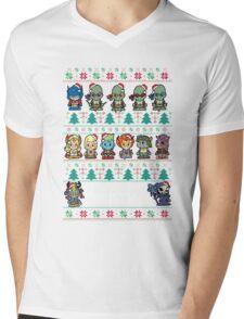Lil 80s Cartoon Christmas Jumper Mens V-Neck T-Shirt