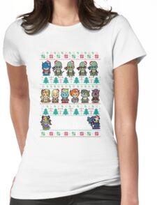 Lil 80s Cartoon Christmas Jumper Womens Fitted T-Shirt