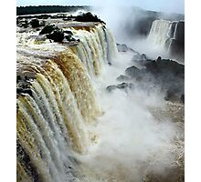 Devil's Throat at Iguassu Falls, Brazil & Argentina.  Photographic Print