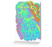 Spring Electric Conure Greeting Card