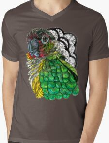 Green Cheeked Conure Mens V-Neck T-Shirt