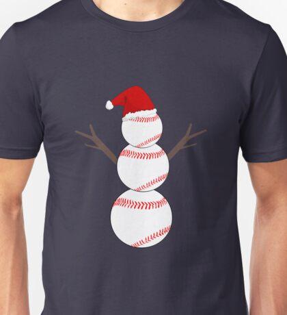 Baseball Snowman - Funny Christmas Unisex T-Shirt
