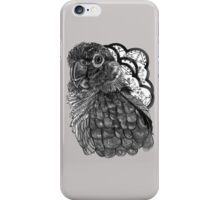 Greyscale Conure iPhone Case/Skin