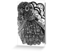 Greyscale Conure Greeting Card