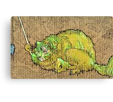 green catbeast Canvas Print