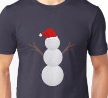 Golf Ball Snowman - Funny Christmas Unisex T-Shirt