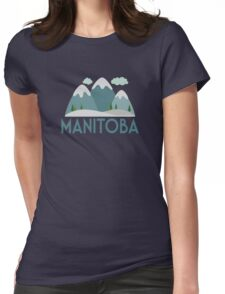 Manitoba Canada T-shirt - Snowy Mountain Womens Fitted T-Shirt