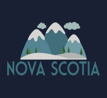 Nova Scotia Canada T-shirt - Snowy Mountain Kids Tee