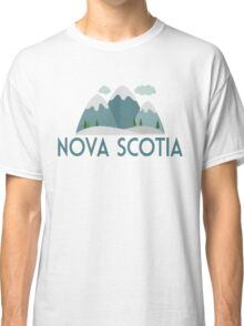 Nova Scotia Canada T-shirt - Snowy Mountain Classic T-Shirt