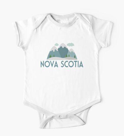 Nova Scotia Canada T-shirt - Snowy Mountain One Piece - Short Sleeve