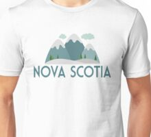 Nova Scotia Canada T-shirt - Snowy Mountain Unisex T-Shirt