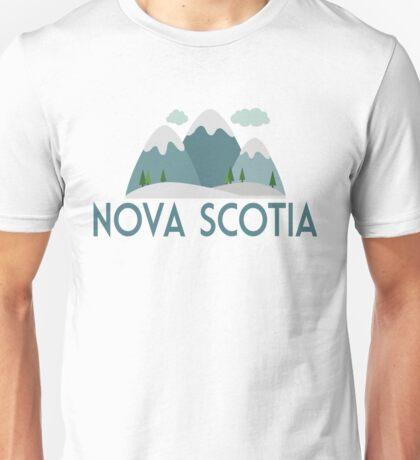 Nova Scotia Canada T-shirt - Snowy Mountain Unisex T-Shirt
