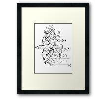 rough raven  Framed Print