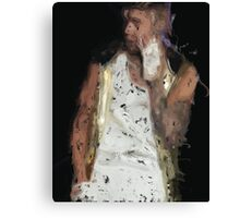 Painted Justin Bieber Canvas Print