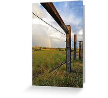 Through the Barbwire Greeting Card