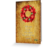 CHRISTMAS CARD WELCOME Greeting Card