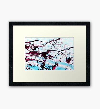 Reflections of Tree Branches in Water Framed Print