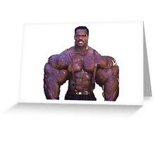 Muscular Black Man Greeting Card