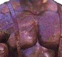Muscular Black Man Sticker