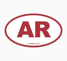 Arkansas AR  Euro Oval RED by USAswagg