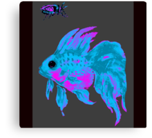 cool electric goldfish & bug Canvas Print