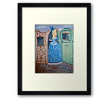 Marie Antoinette Stepping Out of Carriage  Framed Print
