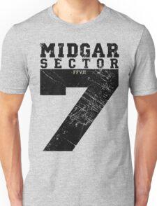 Midgar Sector 7 - Black Edition Unisex T-Shirt