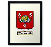 Wadsworth Coat of Arms (English) Framed Print