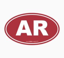 Arkansas AK  Euro Oval RED Kids Clothes