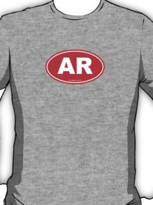 Arkansas AK  Euro Oval RED T-Shirt
