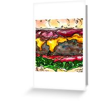bacon cheeseburger Greeting Card