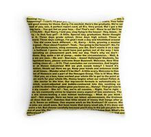 bee movie script Throw Pillow