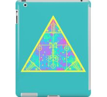 cool electric triangular space iPad Case/Skin