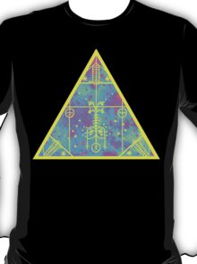 cool electric triangular space T-Shirt