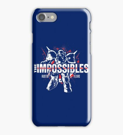 The Impossibles Logo w/ Robot - White and Red iPhone Case/Skin