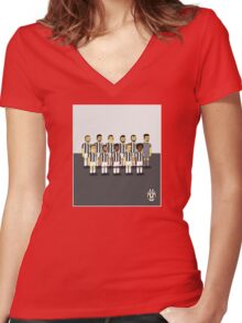 Juventus as simpson style Women's Fitted V-Neck T-Shirt
