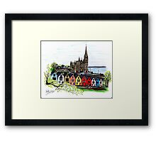 Ireland Pen and Ink Drawing  Framed Print